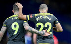 LONDON, ENGLAND - DECEMBER 26: Danny Ings(L) and Nathan Redmond of Southampton during the Premier League match between Chelsea FC and Southampton FC at Stamford Bridge on December 26, 2019 in London, United Kingdom. (Photo by Matt Watson/Getty Images)