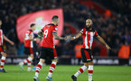 SOUTHAMPTON, ENGLAND - DECEMBER 28: Danny Ings and Nathan Redmond goal celebration during the Premier League match between Southampton FC and Crystal Palace at St Mary's Stadium, on December 28, 2019 in Southampton, United Kingdom. (Photo by Isabelle Field/Getty Images)