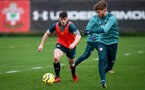 SOUTHAMPTON, ENGLAND - DECEMBER 29: Will Ferry(L) during a Southampton FC training session at the Staplewood Complex on December 29, 2019 in Southampton, England. (Photo by Matt Watson/Southampton FC via Getty Images)