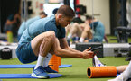 SOUTHAMPTON, ENGLAND - JANUARY 02: Jan Bednarek during a Southampton FC recovery session at the Staplewood Campus on January 02, 2020 in Southampton, England. (Photo by Matt Watson/Southampton FC via Getty Images)
