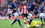 SOUTHAMPTON, ENGLAND - JANUARY 04: Shane Long during the FA Cup, Third Round, match between Southampton FC and Huddersfield Town at St Mary's Stadium on January 4, 2020 in Southampton, United Kingdom. (Photo by Chris Moorhouse/Southampton FC via Getty Images)