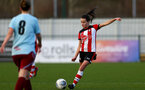 SOUTHAMPTON, ENGLAND - JANUARY 12: Sophia Pharoah during the SRWFL at Snow's Stadium between Southampton Women and Chesham on January 12 2020, Totton, England. (Photo by Isabelle Field/Southampton FC via Getty Images)