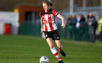 SOUTHAMPTON, ENGLAND - JANUARY 12: Shannon Albuery during the SRWFL at Snow's Stadium between Southampton Women and Chesham on January 12 2020, Totton, England. (Photo by Isabelle Field/Southampton FC via Getty Images)