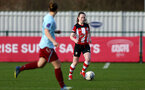 SOUTHAMPTON, ENGLAND - JANUARY 12: Charley Evans during the SRWFL at Snow's Stadium between Southampton Women and Chesham on January 12 2020, Totton, England. (Photo by Isabelle Field/Southampton FC via Getty Images)