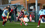 SOUTHAMPTON, ENGLAND - JANUARY 12: Alisha Ware during the SRWFL at Snow's Stadium between Southampton Women and Chesham on January 12 2020, Totton, England. (Photo by Isabelle Field/Southampton FC via Getty Images)