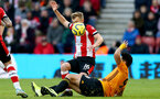 SOUTHAMPTON, ENGLAND - JANUARY 18: James Ward-Prowse during the Premier League match between Southampton FC and Wolverhampton Wanderers  at St Marys Stadium on January 18, 2020 in Southampton, United Kingdom. (Photo by Isabelle Field/Southampton FC via Getty Images)