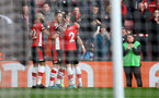SOUTHAMPTON, ENGLAND - JANUARY 18: Shane Long of Southampton celebrates with team mates during the Premier League match between Southampton FC and Wolverhampton Wanderers at St Mary's Stadium on January 18, 2020 in Southampton, United Kingdom. (Photo by Matt Watson/Southampton FC via Getty Images)