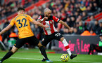 SOUTHAMPTON, ENGLAND - JANUARY 18: Nathan Redmond(R) of Southampton beats Leander Dendoncker(L) of Wolverhampton Wanderers during the Premier League match between Southampton FC and Wolverhampton Wanderers at St Mary's Stadium on January 18, 2020 in Southampton, United Kingdom. (Photo by Matt Watson/Southampton FC via Getty Images)