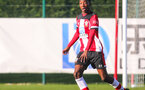 SOUTHAMPTON, ENGLAND - JANUARY 18: Kegs Chauke of Southampton FC during the Barclays Under 18 Premier League match between Southampton FC and Arsenal FC at the Staplewood Campus on January 18, 2020 in Southampton, England