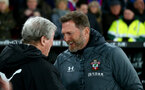 LONDON, ENGLAND - JANUARY 21: Roy Hodgson(L) of Crystal Palace and Ralph Hasenhuttl of Southampton during the Premier League match between Crystal Palace and Southampton FC at Selhurst Park on January 21, 2020 in London, United Kingdom. (Photo by Matt Watson/Southampton FC via Getty Images)