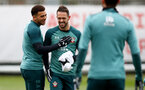 SOUTHAMPTON, ENGLAND - JANUARY 23: Ché Adams(L) and Danny Ings during a Southampton FC training session at the Staplewood Campus on January 23, 2020 in Southampton, England. (Photo by Matt Watson/Southampton FC via Getty Images)