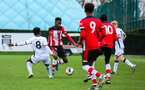 SOUTHAMPTON, ENGLAND - JANUARY 23: Kegs Chauke of Southampton FC during the Barclays Under 18 Premier League match between Southampton FC and Swansea City at the Staplewood Campus on January 23, 2020 in Southampton, England