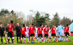 SOUTHAMPTON, ENGLAND - JANUARY 23: Southampton and Swansea players shake hands during the Barclays Under 18 Premier League match between Southampton FC and Swansea City at the Staplewood Campus on January 23, 2020 in Southampton, England