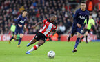 SOUTHAMPTON, ENGLAND - JANUARY 25: Michael Obafemi during the FA Cup Fourth Round match between Southampton FC and Tottenham Hotspur at St. Mary's Stadium on January 25, 2020 in Southampton, England. (Photo by Chris Moorhouse/Southampton FC via Getty Images)