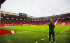 SOUTHAMPTON, ENGLAND - JANUARY 26: Southampton Womens FC manager Marieanne Spacey-Cale looks out at St Mary's Stadium prior to the Women's FA Cup Fourth Round match between Southampton Womens FC and Coventry United Ladies at St Mary's Stadium on January 26, 2020 in Southampton, England