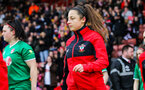 SOUTHAMPTON, ENGLAND - JANUARY 26: Kirsty Whitton of Southampton Womens FC during the Women's FA Cup Fourth Round match between Southampton Womens FC and Coventry United Ladies at St Mary's Stadium on January 26, 2020 in Southampton, England