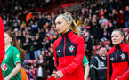 SOUTHAMPTON, ENGLAND - JANUARY 26: Phoebe Williams of Southampton Womens FC during the Women's FA Cup Fourth Round match between Southampton Womens FC and Coventry United Ladies at St Mary's Stadium on January 26, 2020 in Southampton, England