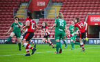 SOUTHAMPTON, ENGLAND - JANUARY 26: Rachel Panting of Southampton Womens FC has a shot during the Women's FA Cup Fourth Round match between Southampton Womens FC and Coventry United Ladies at St Mary's Stadium on January 26, 2020 in Southampton, England