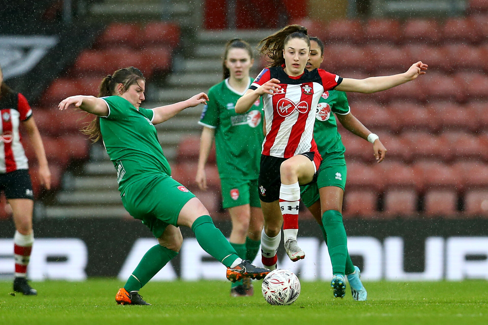SOUTHAMPTON, ENGLAND - JANUARY 26: Ella Morris during the Women's FA Cup Fourth Round match between Southampton FC and Coventry United Ladies at St. Mary's Stadium on January 26, 2020 in Southampton, England. (Photo by Isabelle Field/Southampton FC via Getty Images)