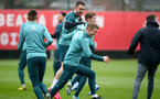 SOUTHAMPTON, ENGLAND - JANUARY 30: Danny Ings(L) and James Ward-Prowse during a Southampton FC training session at the Staplewood Campus on January 30, 2020 in Southampton, England. (Photo by Matt Watson/Southampton FC via Getty Images)