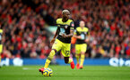 LIVERPOOL, ENGLAND - FEBRUARY 01: Moussa Djenepo of Southampton during the Premier League match between Liverpool FC and Southampton FC at Anfield on February 01, 2020 in Liverpool, United Kingdom. (Photo by Matt Watson/Southampton FC via Getty Images)