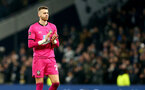 LONDON, ENGLAND - FEBRUARY 05: Angus Gunn of Southampton during the FA Cup Fourth Round Replay match between Tottenham Hotspur and Southampton FC at Tottenham Hotspur Stadium on February 05, 2020 in London, England. (Photo by Matt Watson/SouthamptonFC via Getty Images)