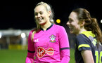 PORTSMOUTH, ENGLAND - FEBRUARY 05: Kayla Rendell during the National League Cup quarter-final game between Portsmouth and Southampton Women at Privett Park Stadium on February 05, 2020 in Portsmouth, England. (Photo by Isabelle Field/Southampton FC via Getty Images)