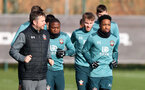 SOUTHAMPTON, ENGLAND - FEBRUARY 04: Kyle Walker-Peters(R) during a Southampton FC training session at the Staplewood Campus on February 04, 2020 in Southampton, England. (Photo by Matt Watson/Southampton FC via Getty Images)