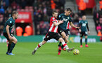 SOUTHAMPTON, ENGLAND - FEBRUARY 15: Sturat Armstrong during the Premier League match between Southampton FC and Burnley FC at St Mary's Stadium on February 8, 2020 in Southampton, United Kingdom. (Photo by Chris Moorhouse/Southampton FC via Getty Images)