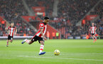 SOUTHAMPTON, ENGLAND - FEBRUARY 15: Kyle Walker-Peters during the Premier League match between Southampton FC and Burnley FC at St Mary's Stadium on February 8, 2020 in Southampton, United Kingdom. (Photo by Chris Moorhouse/Southampton FC via Getty Images)