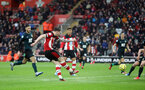 SOUTHAMPTON, ENGLAND - FEBRUARY 15: Pierre-Emile Hojbjerg during the Premier League match between Southampton FC and Burnley FC at St Mary's Stadium on February 8, 2020 in Southampton, United Kingdom. (Photo by Chris Moorhouse/Southampton FC via Getty Images)