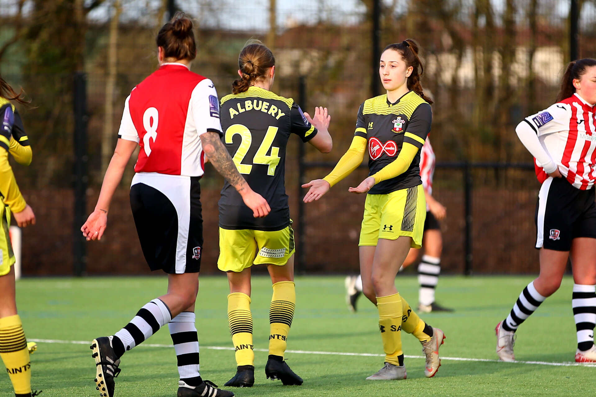 EXETER, ENGLAND - February 16: during the SRWFL at Cat and Fiddle Training Ground between Exeter and Southampton Women on February 16 2020, Exeter, England. (Photo by Isabelle Field/Southampton FC via Getty Images)