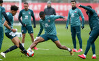 SOUTHAMPTON, ENGLAND - FEBRUARY 20: Kevin Danso during a Southampton FC training session at the Staplewood Campus on February 20, 2020 in Southampton, England. (Photo by Matt Watson/Southampton FC via Getty Images)