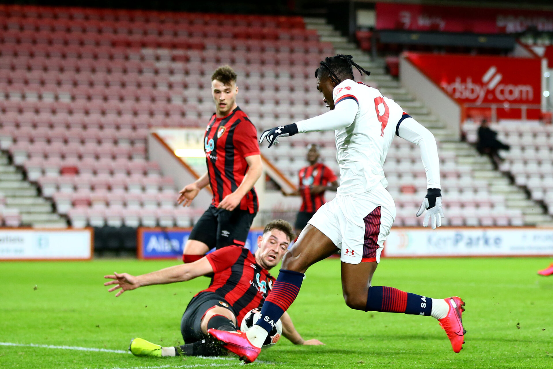 BOURNEMOUTH, ENGLAND - February 21: during the PL2 match at The Vitality Stadium between Bournemouth and Southampton on February 21 2020, Bournemouth, England. (Photo by Isabelle Field/Southampton FC via Getty Images)