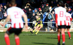SUNDERLAND, ENGLAND - February 23: Phoebe Williams during the FAWNL semi-final at The Eppleton Colliery Welfare Ground between Sunderland and Southampton Women on February 23 2020, Sunderland, England. (Photo by Isabelle Field/Southampton FC via Getty Images)
