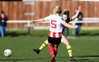 SUNDERLAND, ENGLAND - February 23: Alisha Ware during the FAWNL semi-final at The Eppleton Colliery Welfare Ground between Sunderland and Southampton Women on February 23 2020, Sunderland, England. (Photo by Isabelle Field/Southampton FC via Getty Images)