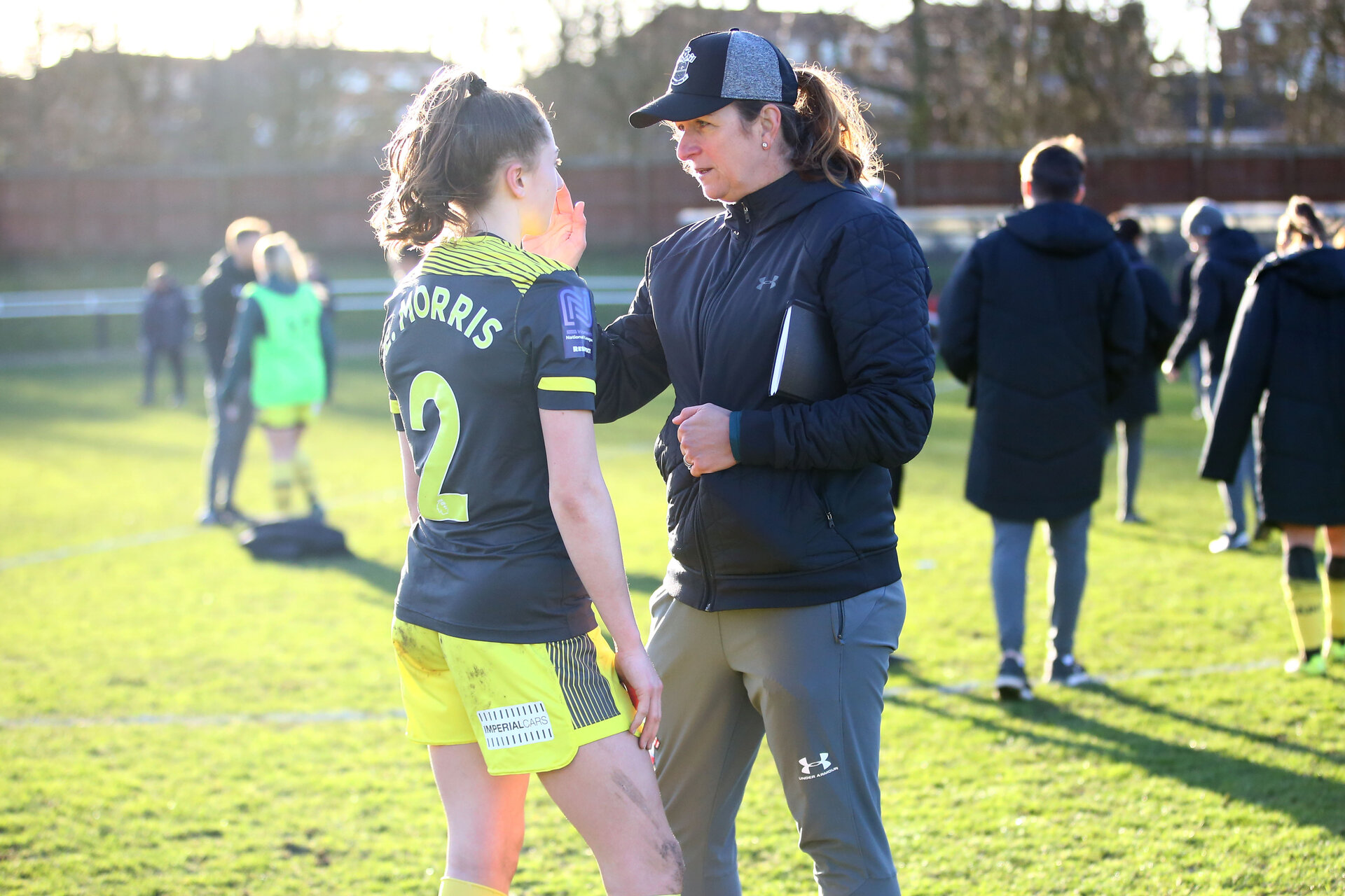 SUNDERLAND, ENGLAND - February 23: Marieanne Spacey-Cale during the FAWNL semi-final at The Eppleton Colliery Welfare Ground between Sunderland and Southampton Women on February 23 2020, Sunderland, England. (Photo by Isabelle Field/Southampton FC via Getty Images)