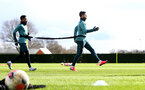 SOUTHAMPTON, ENGLAND - FEBRUARY 25: Kyle Walker-Peters(L) and Shane Long during a Southampton FC training session at the Staplewood Campus on February 25, 2020 in Southampton, England. (Photo by Matt Watson/Southampton FC via Getty Images)