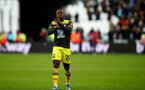 LONDON, ENGLAND - FEBRUARY 29: Michael Obafemi of Southampton during the Premier League match between West Ham United and Southampton FC at London Stadium on February 29, 2020 in London, United Kingdom. (Photo by Matt Watson/Southampton FC via Getty Images)