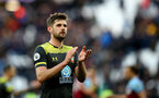 LONDON, ENGLAND - FEBRUARY 29: Jack Stephens of Southampton during the Premier League match between West Ham United and Southampton FC at London Stadium on February 29, 2020 in London, United Kingdom. (Photo by Matt Watson/Southampton FC via Getty Images)