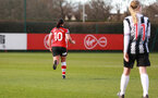 SOUTHAMPTON, ENGLAND - March 1: Shannon Sievwright of Southampton FC Womens celebrates after scoring her side's fourth goal during the FA Women's National League match between Southampton Women and Maidenhead United at Staplewood Campus on March 1 2020, Exeter, England. (Photo by Tom Mulholland/Southampton FC)