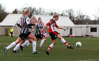 SOUTHAMPTON, ENGLAND - March 1: Shannon Albuery of Southampton FC Womens scores her side's fifth goal during the FA Women's National League match between Southampton Women and Maidenhead United at Staplewood Campus on March 1 2020, Exeter, England. (Photo by Tom Mulholland/Southampton FC)