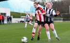 SOUTHAMPTON, ENGLAND - March 1: Shannon Albuery of Southampton FC Womens during the FA Women's National League match between Southampton Women and Maidenhead United at Staplewood Campus on March 1 2020, Exeter, England. (Photo by Tom Mulholland/Southampton FC)