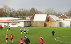 SOUTHAMPTON, ENGLAND - March 1: A rainbow is seen over the pitch after the FA Women's National League match between Southampton Women and Maidenhead United at Staplewood Campus on March 1 2020, Exeter, England. (Photo by Tom Mulholland/Southampton FC)