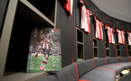 SOUTHAMPTON, ENGLAND - MARCH 07: The match day programme inside the Southampton FC dressing room ahead of the Premier League match between Southampton FC and Newcastle United at St Mary's Stadium on March 07, 2020 in Southampton, United Kingdom. (Photo by Matt Watson/Southampton FC via Getty Images)