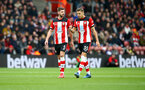 SOUTHAMPTON, ENGLAND - MARCH 07: Jack Stephens(L) and Jan Bednarek of Southampton during the Premier League match between Southampton FC and Newcastle United at St Mary's Stadium on March 07, 2020 in Southampton, United Kingdom. (Photo by Matt Watson/Southampton FC via Getty Images)