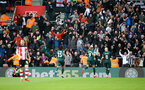 SOUTHAMPTON, ENGLAND - MARCH 07: Allan Saint-Maximin of Newcastle United celebrates in front of his fans during the Premier League match between Southampton FC and Newcastle United at St Mary's Stadium on March 07, 2020 in Southampton, United Kingdom. (Photo by Matt Watson/Southampton FC via Getty Images)