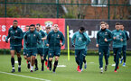 SOUTHAMPTON, ENGLAND - MARCH 10: Players warm up during a Southampton FC training session at the Staplewood Campus on March 08, 2020 in Southampton, England. (Photo by Matt Watson/Southampton FC via Getty Images)