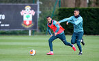 SOUTHAMPTON, ENGLAND - MARCH 11: Ryan Bertrand(L) and Yan Valery during a Southampton FC training session at the Staplewood Campus on March 11, 2020 in Southampton, England. (Photo by Matt Watson/Southampton FC via Getty Images)
