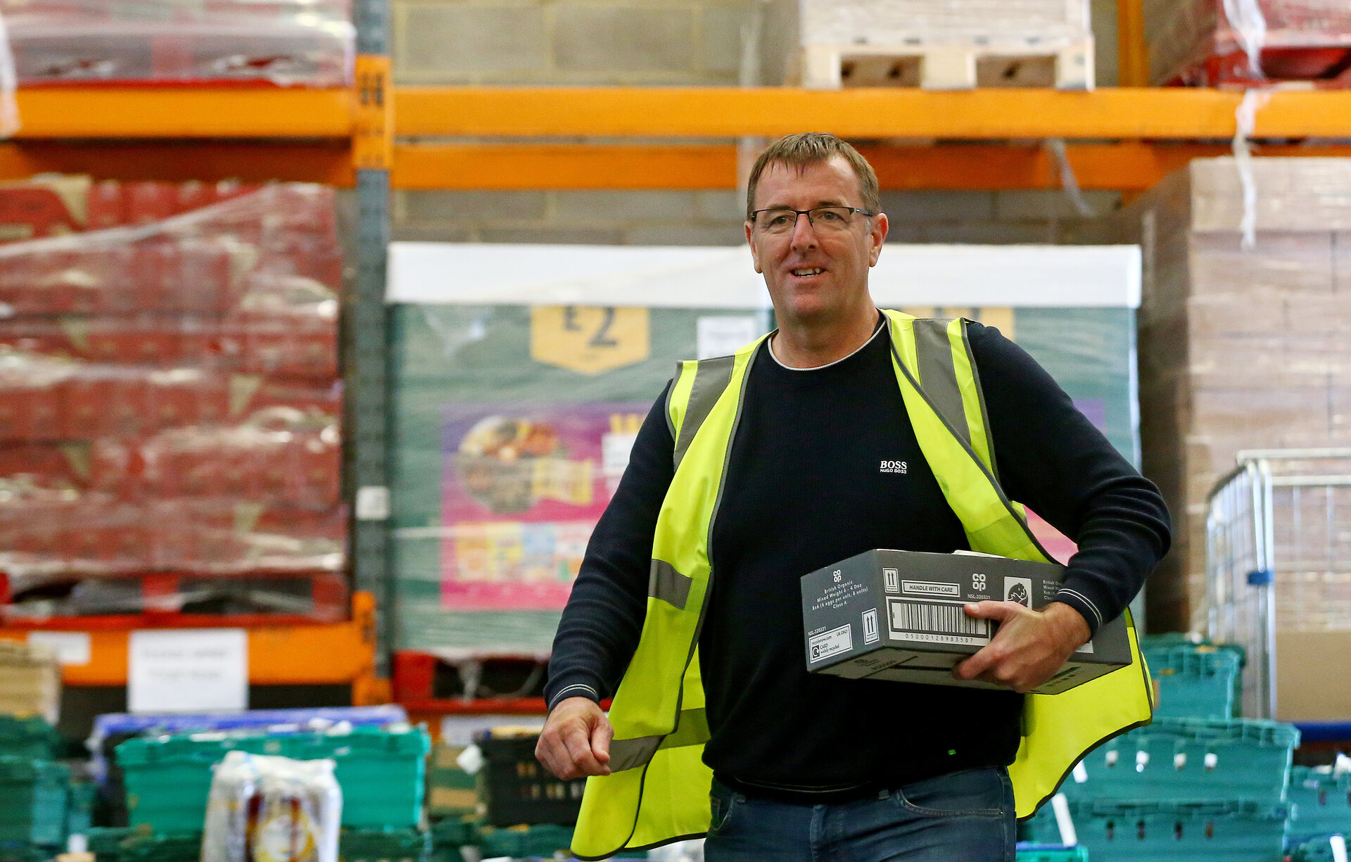 SOUTHAMPTON, ENGLAND - APRIL 06: Former Southampton FC player and current club ambassador Matt Le Tissier volunteers at local food distribution centre FareShare, on April 06, 2020 in Southampton, England. (Photo by Matt Watson/Southampton FC via Getty Images)